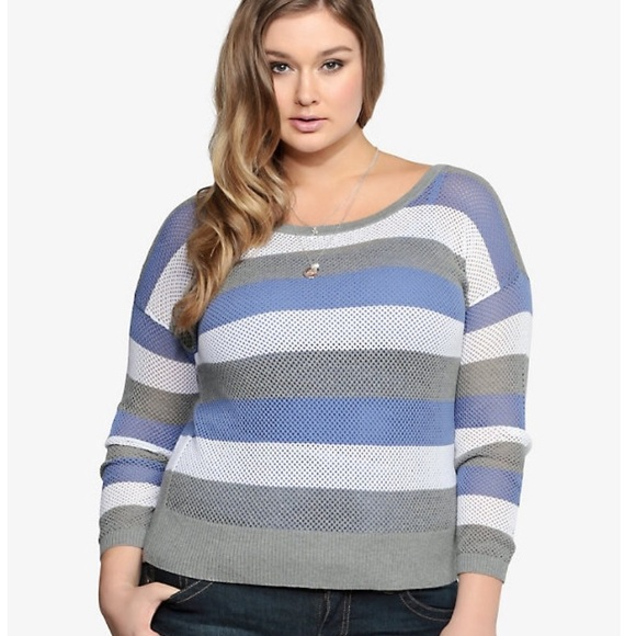 f297c4339d6 torrid Sweaters   Striped Open Stitch Sweater Plus Size 5x   Poshmark